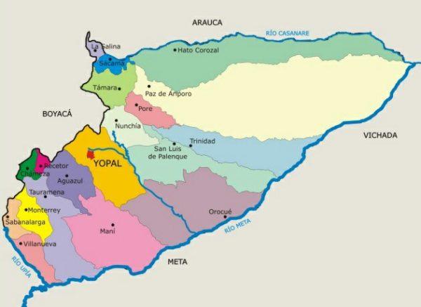 municipios de casanare