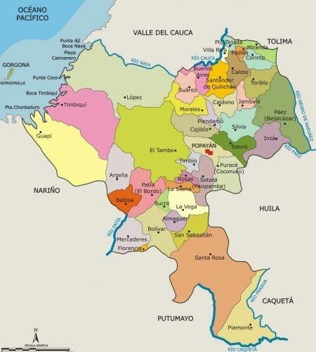 municipios de cauca