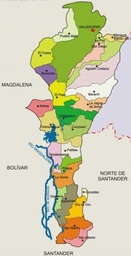 municipios de cesar