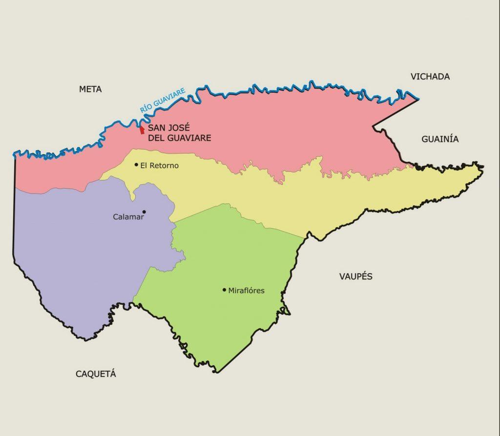 municipios de guaviare