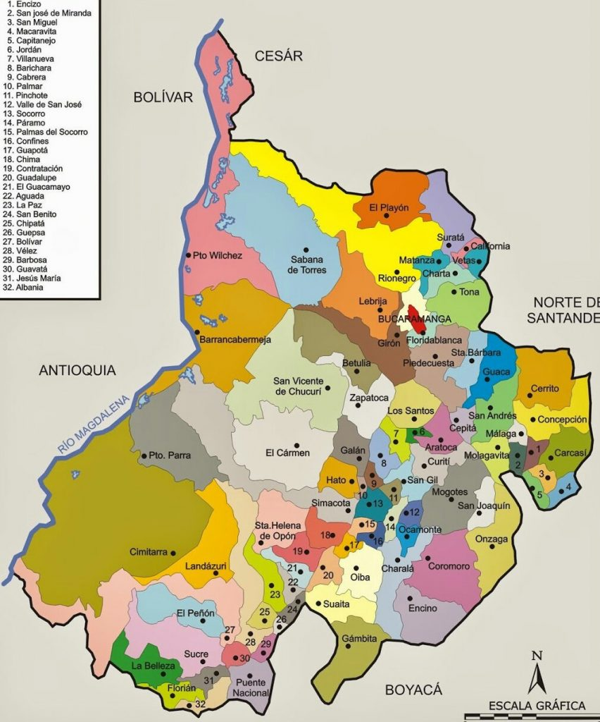 municipios de santander