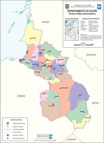 municipios de sucre