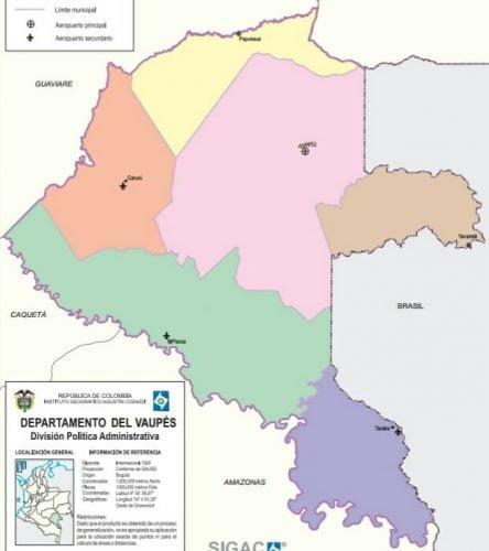 municipios de vaupes
