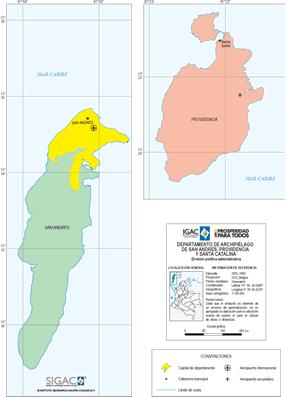 mapa politico de san andres