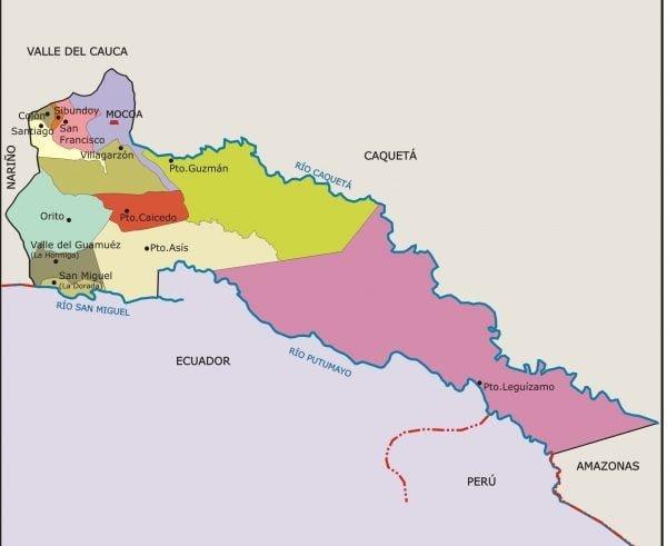 municipios de putumayo