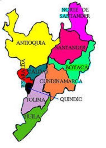 Mapa político de la Región Andina