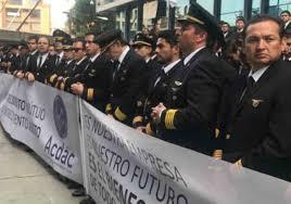 Huelga de la Asociación de Aviadores Civiles y Comerciales, Acdac - Fotografia tomada de Internet.