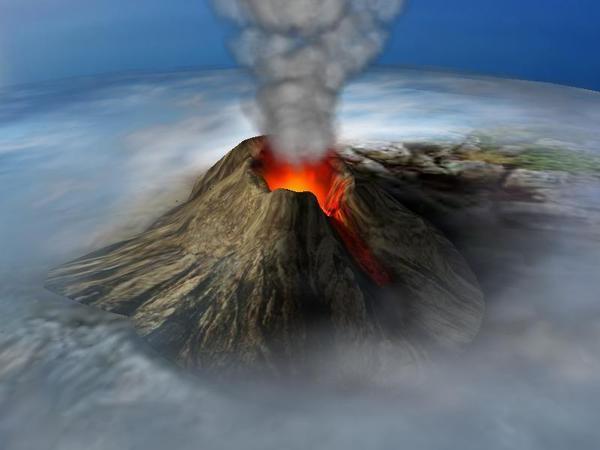 Forma de un Volcan; Imagen tomada de internet.