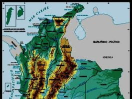 Mapa Relieve de Colombia; Imagen tomad de internet.