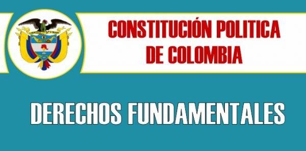 derechos fundamentales de la constitucion politica de colombia