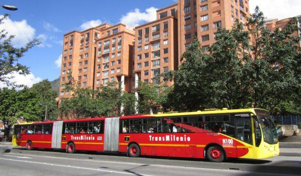 transmilenio en Bogota