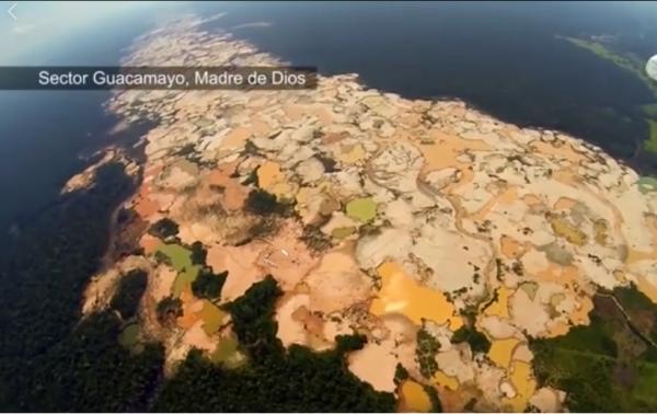 Minería ilegal en la Amazonia; Fotografía tomada de internet.