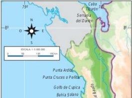 mapa de la region pacifica