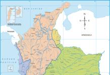 Mapa cuencas y vertientes hidrográficas en Colombia, imagen tomada de internet.
