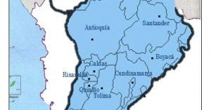 mapa de la region andina de colombia