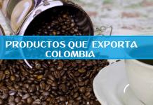 productos que exporta Colombia
