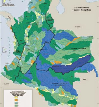 Mapa hidrografiía de Colombia; imagen tomada de internet.