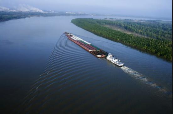 Desarollo porturario, via fluvial rio Magdalena; Fotografía tomada de internet.