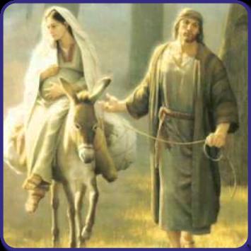 Jose y Maria de camino a Belen