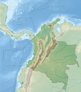 Mapa Relieve e hidrografia de colombia