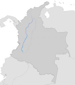 Mapa Rio Cauca -Colombia