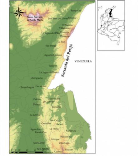 Mapa serrania del perija