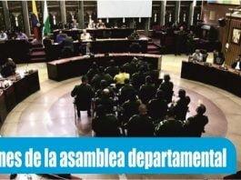 funciones de la asamblea departamental