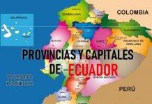 provincias y capitales de ecuador