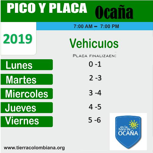 Pico y Placa Ocaña 2019, Restricción vigente, Alcaldía de Ocaña