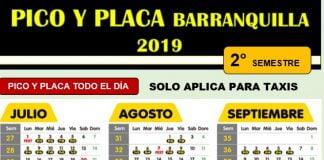 PICO Y PLACA BARRANQUILLA HOY
