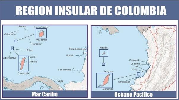 Mapa de la región insular
