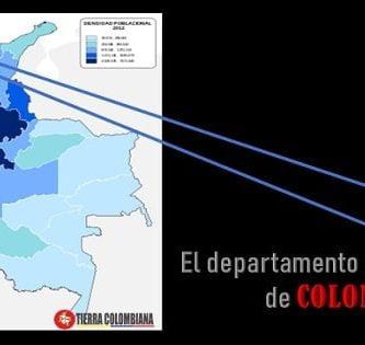 Cules son los cinco departamentos más pequeños de Colombia