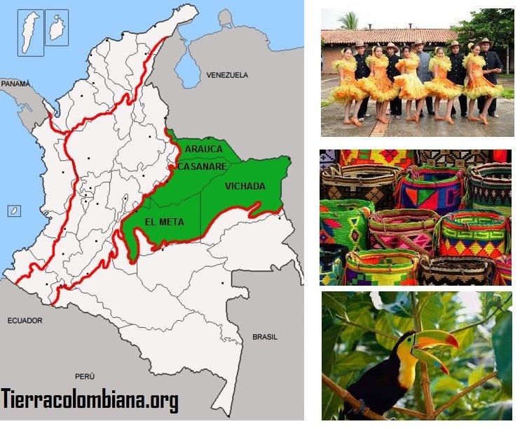 Region orinoquia, localizacion, relieve, limites, flora, fauna, cultura