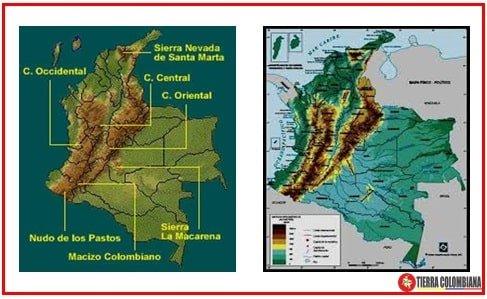 Mapa del relieve colombiano