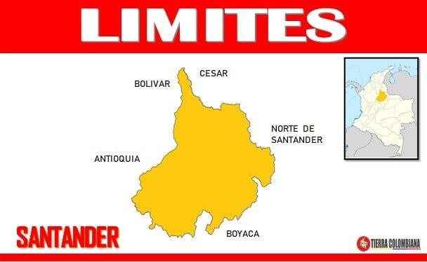 limites geograficos de Santander